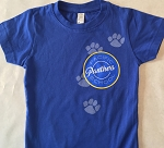 Girls Pawprint T-Shirt - Blue